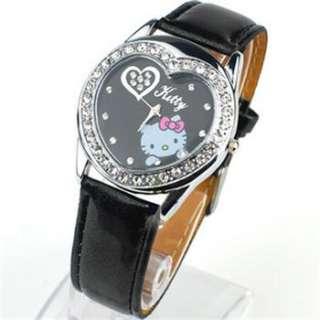 New lovely HELLOKITTY Heart Women Quartz Watch love heart Wrist Watch