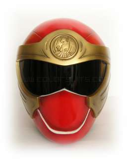 NINJA STORM POWER RANGERS   RED WIND RANGER HELMET COSTUME