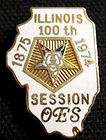 1974 Masonic Eastern Star ILLINOIS 100th Session Pin