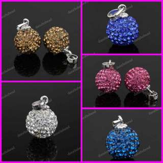 CRYSTAL GLASS EUROPEAN CHARM BEADS FINDINGS FIT BRACELETS 9X14 MM