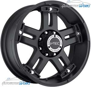 18x9 V Tec Warlord 5x150 +30mm Matte Black Wheels Rims Inch 18