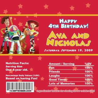 Set of 10 Toy Story 2 Personalized Invitations #4
