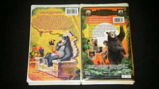 JUNGLE BOOK & THE SECOND JUNGLE BOOK MOWGLI AND BALOO Nice Family VHS