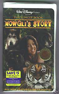 Jungle Book  Mowglis Story VHS SEALED Disney 786936057812