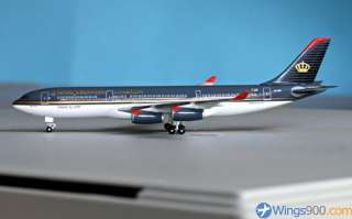 Herpa Wings Royal Jordanian Airbus A340 200 1:500 Diecast Model MIB
