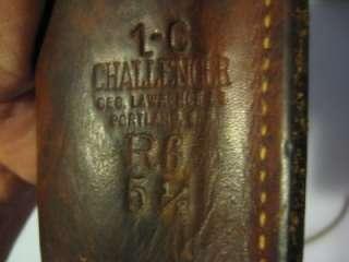 Geo. Lawrence Cowboy Western Leather Gun Cartridge belt w/holster ammo