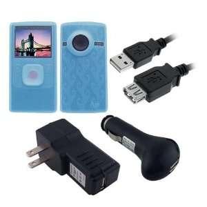 Pure Digital Flip Ultra HD (BLUE) Anti Slip Silicone Skin