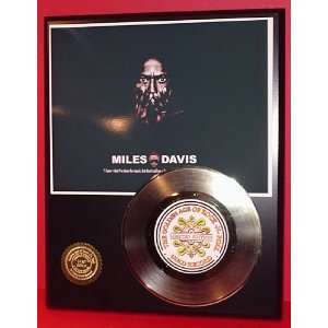 MILES DAVIS GOLD RECORD LIMITED EDITION DISPLAY