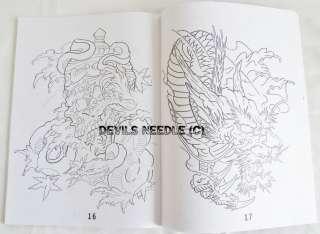 Tattoo Flash Book A4 SIZE   Dead Skulls, Koi (Vol.17)