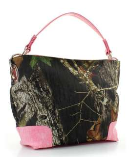 Mossy Oak Camouflage Pink Trim Handbag Purse Satchel Hobo