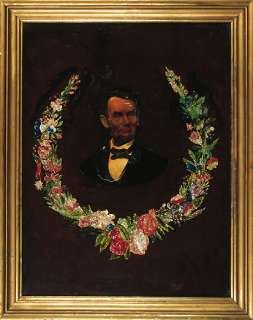 Reverse Painting on Glass of Abraham Lincoln