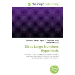 Dirac Large Numbers Hypothesis (9786133893139): Books