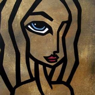 MODERN ABSTRACT PAINTING POP PORTRAIT ART by FIDOSTUDIO