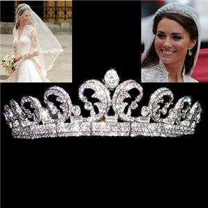Kate & William Royal Swarovski Crystal Wedding Hair Crown Tiara