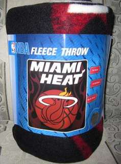 New Miami Heat Fleece Throw NBA Team Basketball Blanket