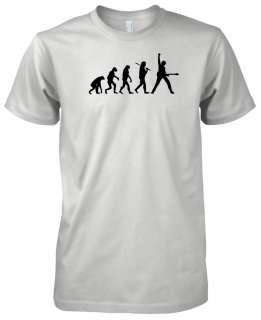 Mens American Apparel Evolution of Man Guitar Music T Shirt Tee