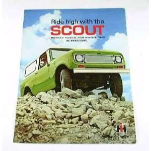 1971 71 International SCOUT Truck BROCHURE Everything
