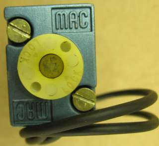MAC Electric Solenoid Valve Pilot 24 VDC 6 W 20 150 PSI