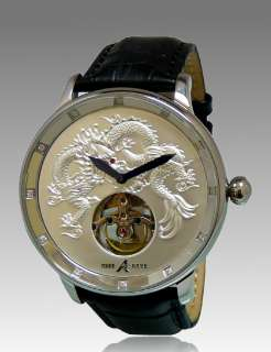 NEW ADEE KAYE MENS AUTOMATIC 20 JEWELS WHITE DIAL LEATHER WATCH AK7116