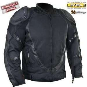 Mens Black Motorcycle Jacket with Breathable 3 Way Lining