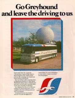 GREYHOUND BUS LINES WALT DISNEY WORLD EXPRESS 1985 AD