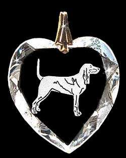 Black And Tan Coonhound Crystal Necklace Jewelry