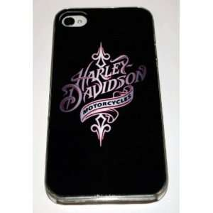 Clear Hard Plastic Case Custom Designed Girlie Harley Davidson Emblem