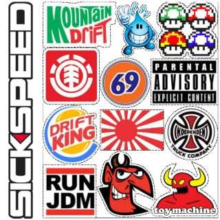 KIT Drift 69 sticker bomb decal lot racing brand spoof funny pc