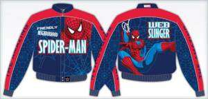 Boys Red Blue SPIDER MAN Jacket Coat Size 2 14 NEW