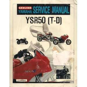 Genuine Yamaha Service Manual YSR50T Yamaha Books