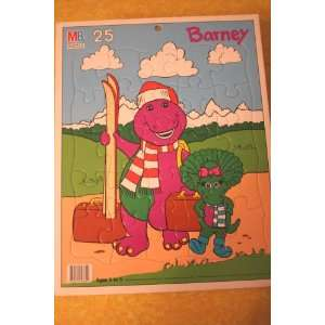 Barney and Baby Bop on a Holiday Ski Vacation Puzzle in