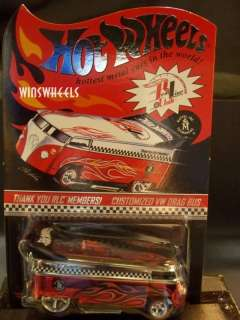 hot wheels 2005 RLC THANK YOU CUSTOMIZED VW DRAG BUS