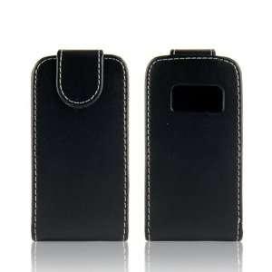 WalkNTalkOnline   Nokia C6 01 Black Specially Designed Leather Flip