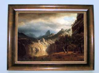 art reproduction on canvas of in western mountains by albert bierstadt
