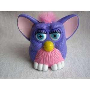 Furby Baby, 3 Purple with Pink Tummy, Pink Hair   1998 Happy Meal Toy