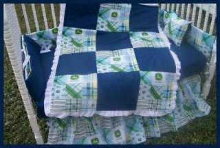 TWINS crib bedding sets mw 2 JOHN DEERE Madras fabrics