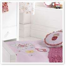 Girls Bedding Pink Cotton Duvet Cover Set or Bedroom Tab Top Curtains