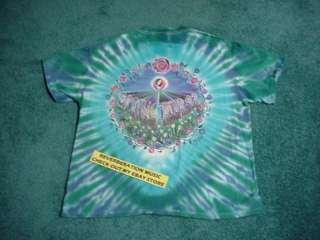 GRATEFUL DEAD Spring 1992 official 2 sided XL Tour T Shirt blue green