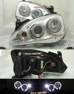 VAUXHALL Opel Corsa C Chrome HALO ANGEL EYE Head Lights