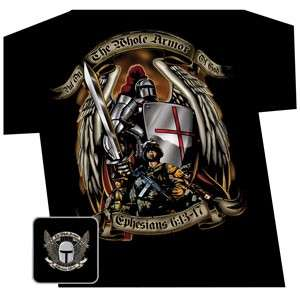 ARMOR OF GOD Christian Soldier T Shirt, Ephesians 613 17, Great Bible