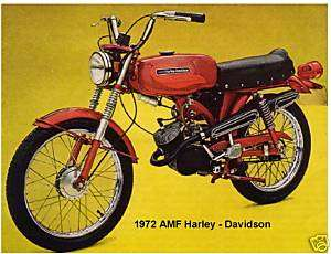 1972 AMF Harley Davidson Refrigerator Magnet