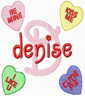 CANDY HEARTS VALENTINES FONT EMBROIDERY MACHINE DESIGNS