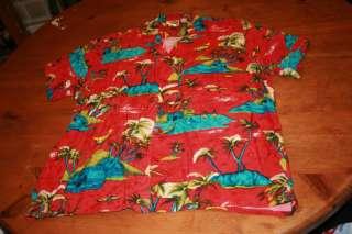 Hawaiian Vtg Shirt Squire of California  Rayon size L