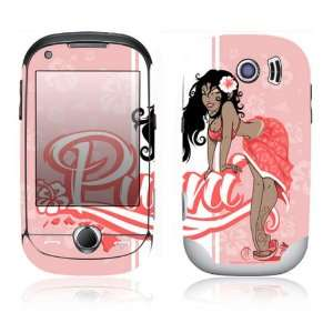 Samsung Corby Pro Decal Skin Sticker   Puni Doll Pink