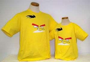 ANGRY BIRDS KIDS/ADULTS T SHIRT 2011 YELLOW CRAZY BIRD