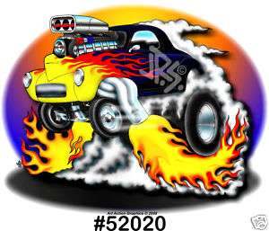 41 WILLYS HOT ROD CLASSIC Drag Racing CarTOON T Shirt