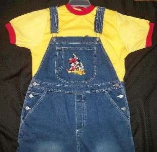 Adult Baby 46 hips MICKEY MOUSE OVERALLS/ DIAPER SHIRT, by LL