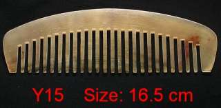 16 cm Strong WIDE Teeth Tibet Yak Horn Carved Comb Y15