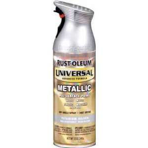 12 Oz Titanium Silver Universal Spray Paint 245220 [Set of