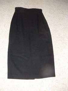 ANNE KLEIN II BLACK WOOL PENCIL SKIRT size 10 CUTE